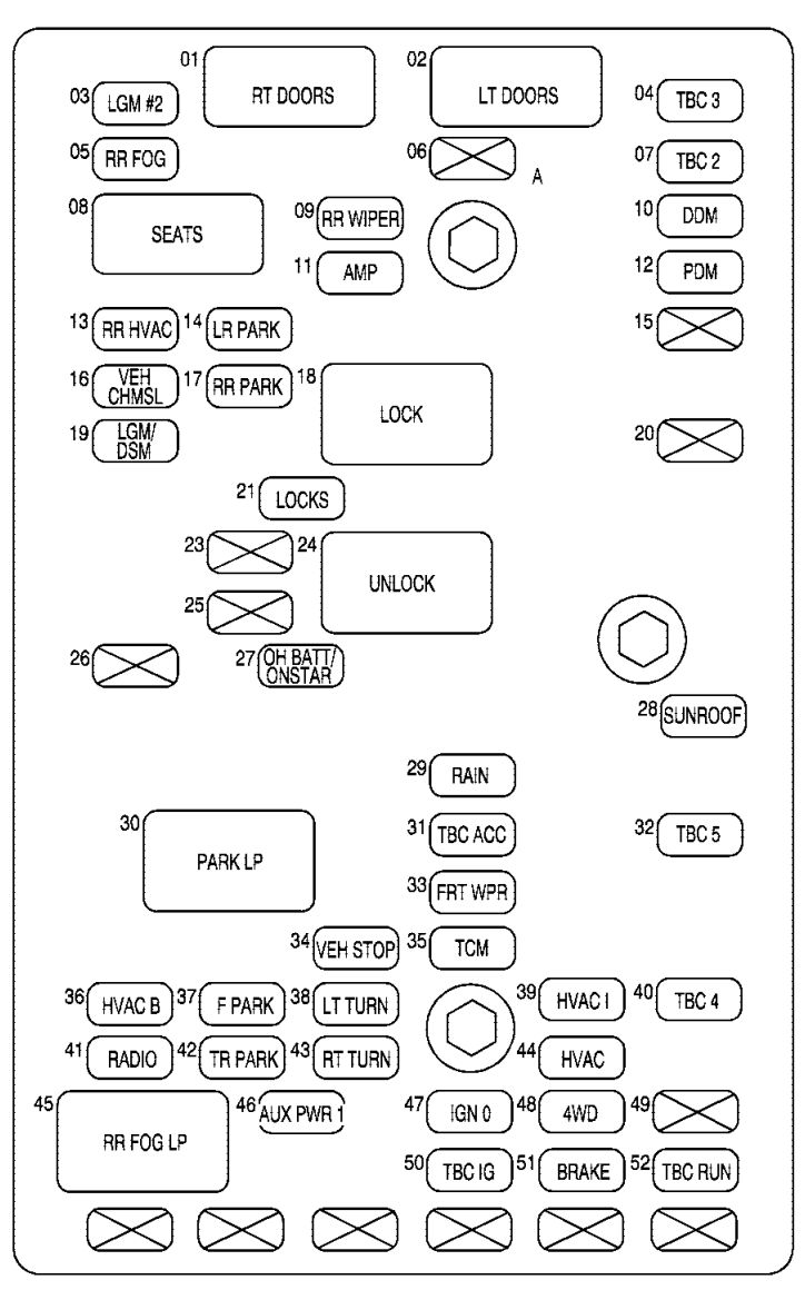 hight resolution of buick rainier fuse box engine rear underseat