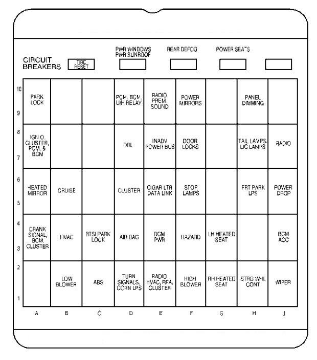 2003 buick century fuse box diagram