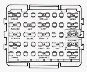 GMC Sierra mk1 (1993  1994)  fuse box diagram  Auto Genius