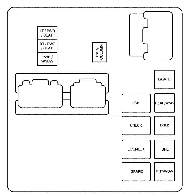 2007 Saturn Outlook Driver Side Kick Panel Wiring Diagram