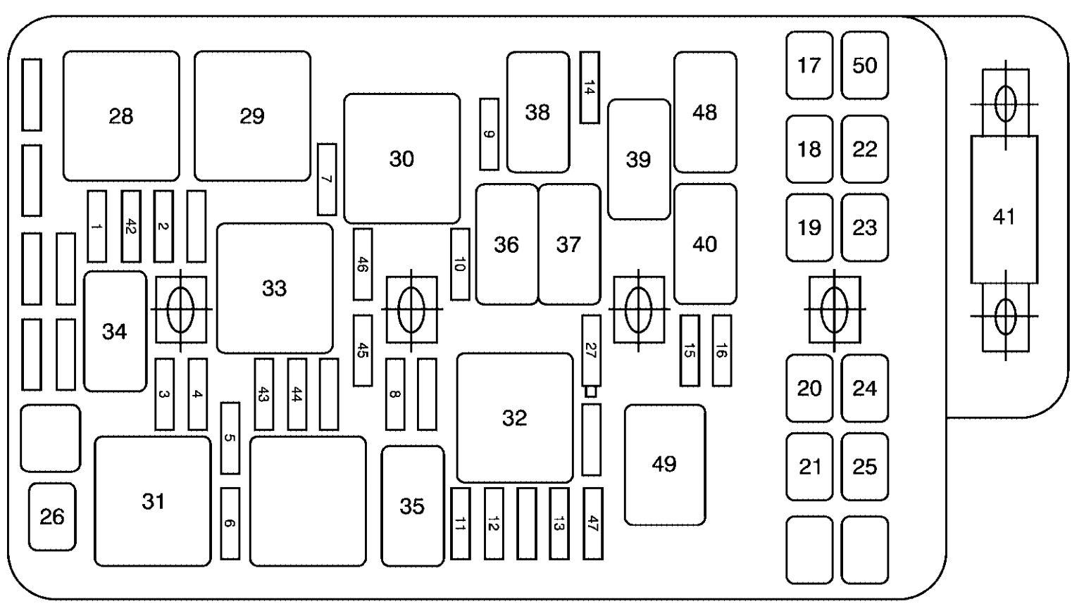 fuse box diagram for 2006 pontiac g6