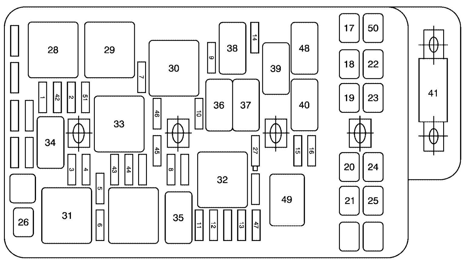 02 mercury grand marquis fuse box diagram
