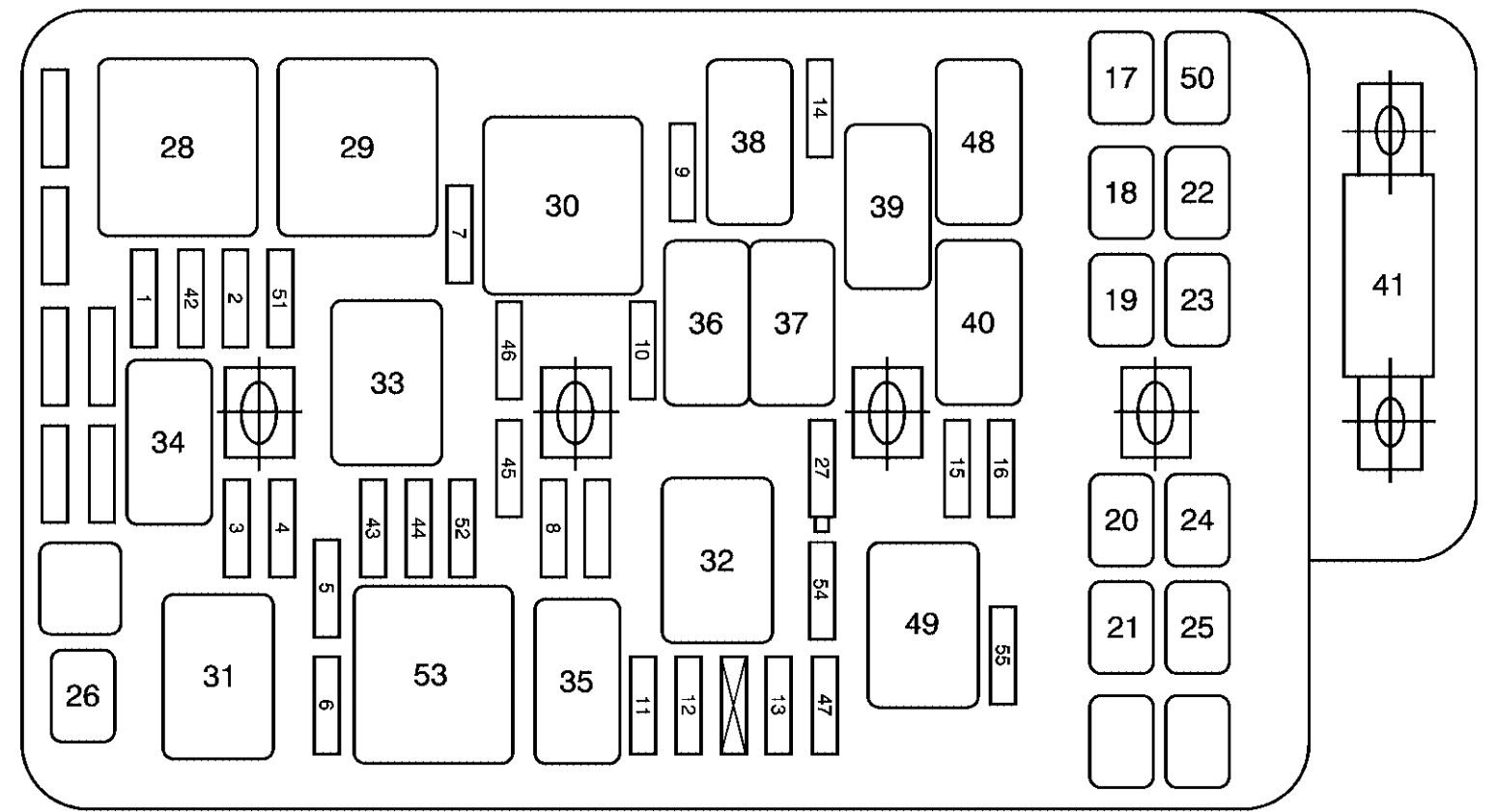 G Body Fuse Box Layout
