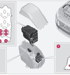 volvo s80 mk1 first generation 2008 fuse box diagram [ 1245 x 644 Pixel ]