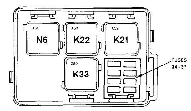 bmw e32 fuse box diagram