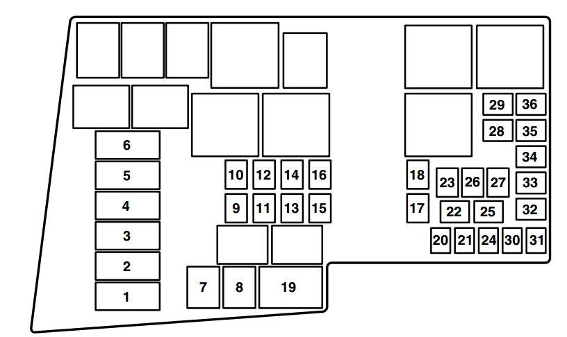 2008 mazda 3 fuse box layout