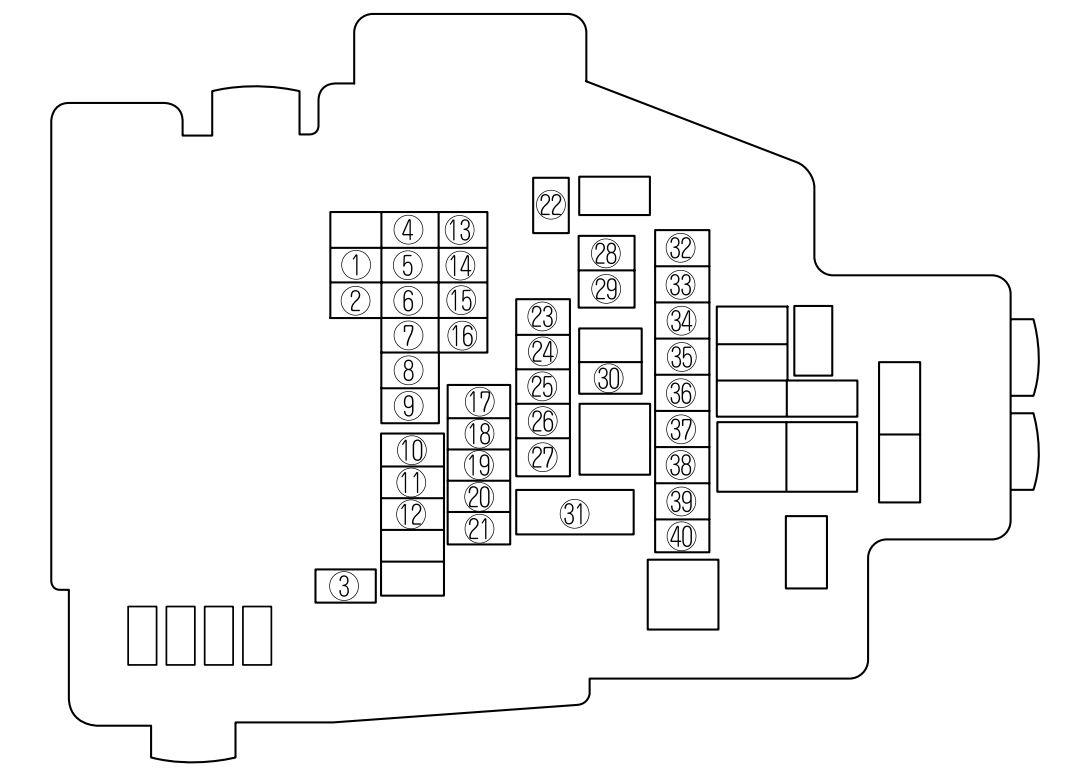 2012 mazda bt 50 fuse box diagram