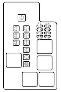 Mazda 626 (2002) - fuse box diagram - Auto Genius