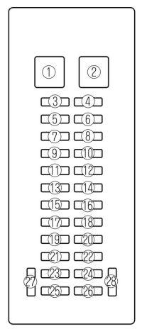 Mazda MPV (2002 - 2006) - fuse box diagram - Auto Genius