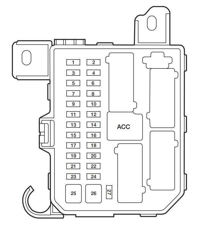 2004 mazda 3 wiring diagram to fuse box