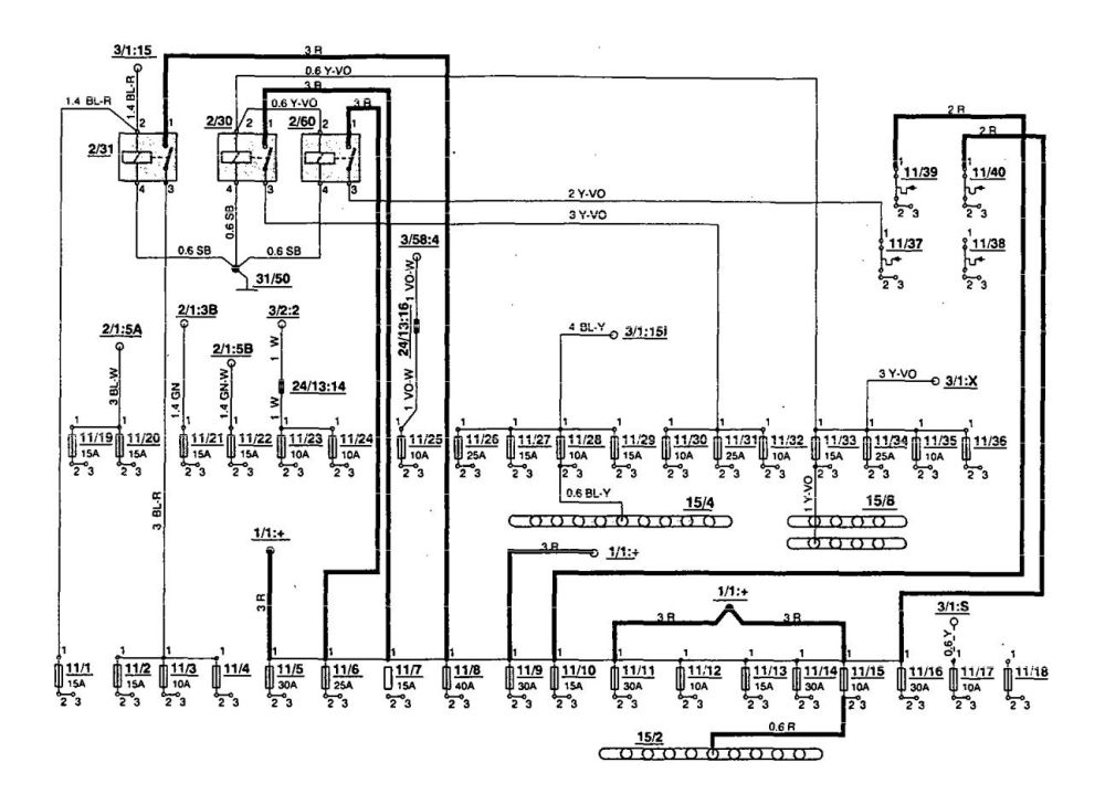 medium resolution of volvo 850 1994 fuse box diagram