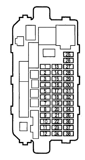 2000 acura integra fuse box location