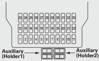 Acura MDX (2011) - fuse box diagram - Auto Genius