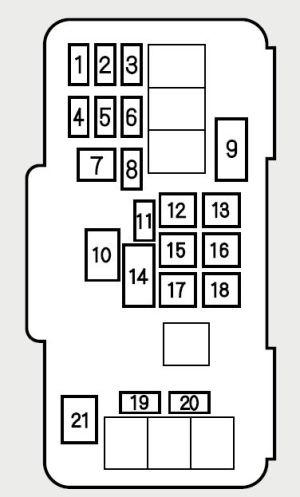 Honda Accord (2001)  fuse box diagram  Auto Genius