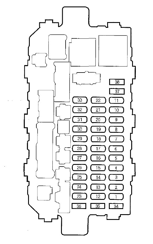 2001 Mazda Protege Es Interior Fuse Box Diagram : 47