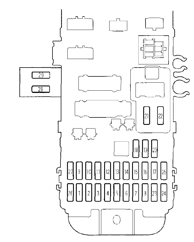 1997 honda prelude interior fuse box diagram