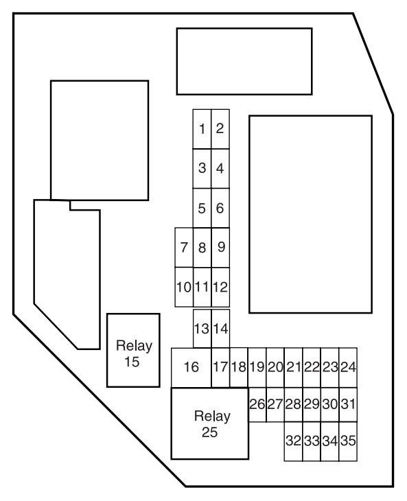 2006 mazda b4000 fuse box diagram