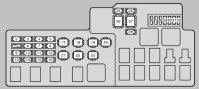 Lexus ES300 (2002 - 2003) - fuse box diagram - Auto Genius