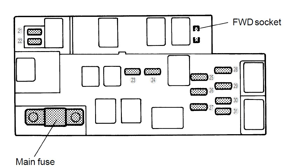 2000 Subaru Legacy Fuse Box Diagram With Connectors : 51