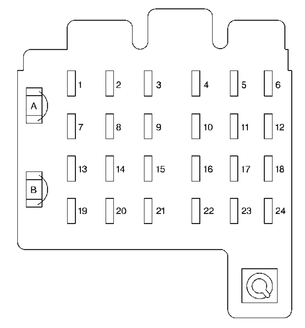 hight resolution of chevrolet suburban 1999 fuse box diagram