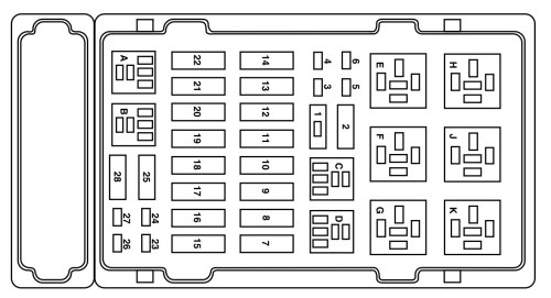 small resolution of ford e 250 fuse box power distribution