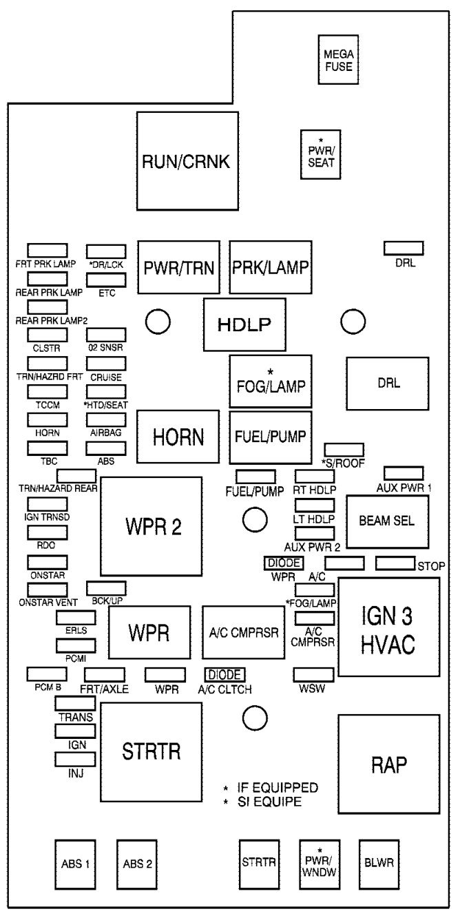 hight resolution of chevrolet colorado 2006 fuse box diagram