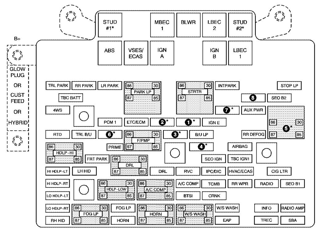 Fuse Box For 2002 Chevrolet Tahoe - Wiring Diagram