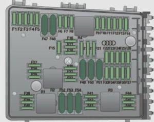 Audi A3 (2009)  fuse box diagram  Auto Genius