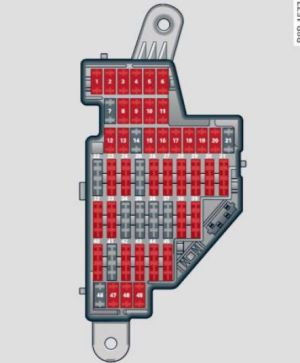 Audi A3 (2012)  fuse box diagram  Auto Genius