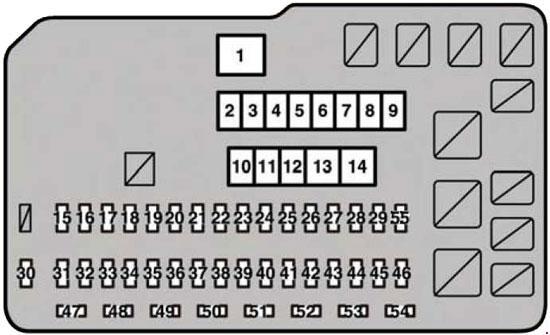 2013 lexus es 350 fuse box diagram