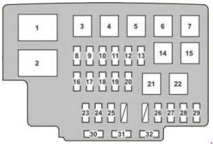 Lexus RX 350 (2007  2009)  fuse box diagram  Auto Genius