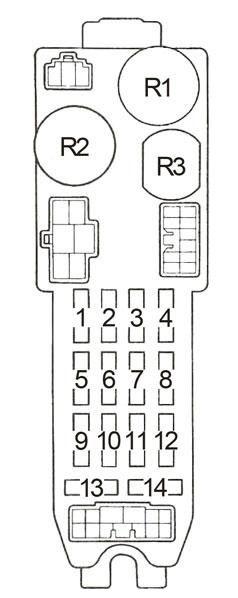 1987 toyota fuse box