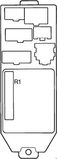 1998 Toyota Avalon Fuse Box Diagram