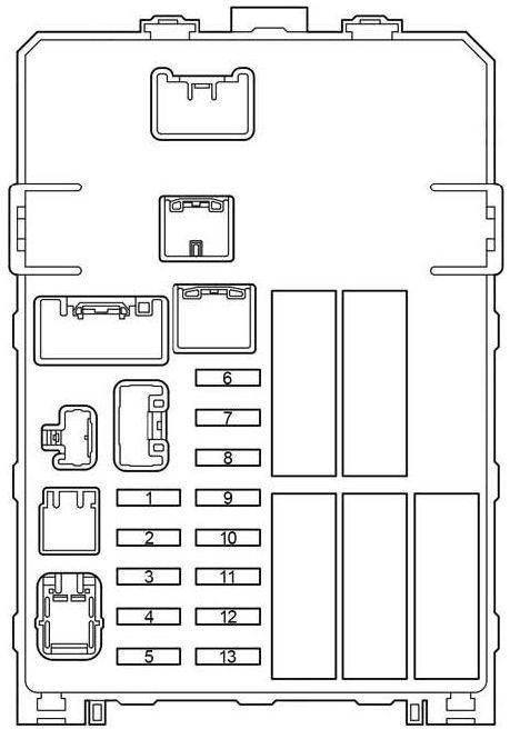 Toyota Fortuner Fuse Box Diagram