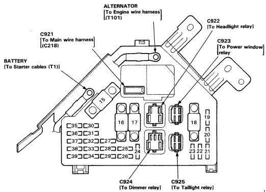 1992 acura vigor fuse diagram