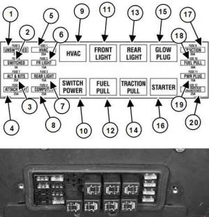 Bobcat S185  fuse box diagram  Auto Genius