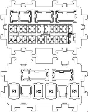 Infiniti FX50 (S51, 2008  2017)  fuse box diagram  Auto