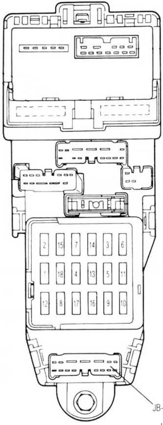1990 mazda 626 fuse box
