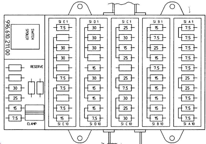 porsche boxster fuse box diagram 987