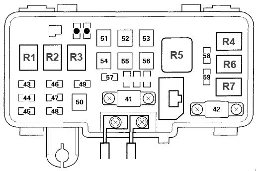 Fuse Box Acura Mdx 2001 - Wiring Diagrams Acura Mdx Fuse Box on