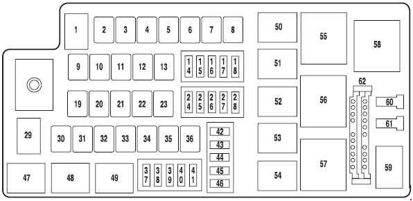 fuse box diagram for 2006 ford five hundred