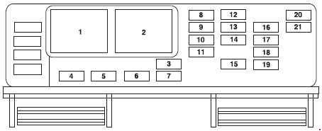 2007 Ford Freestyle Fuse Box Diagram Ford Freestar 2003 2007 Fuse Box Diagram Auto Genius