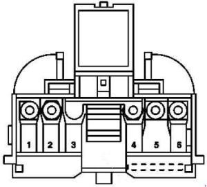 MercedesBenz w203 CClass (2000  2007)  fuse box