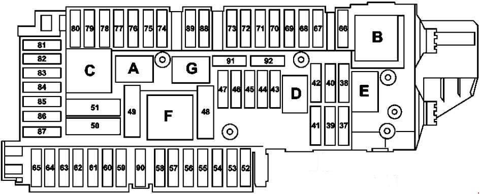 mercedes benz w204 fuse box diagram