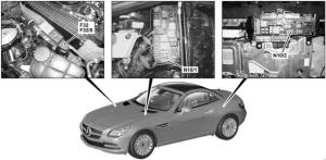 MercedesBenz SLK (R172; 2010  present)  fuse box diagram  Auto Genius