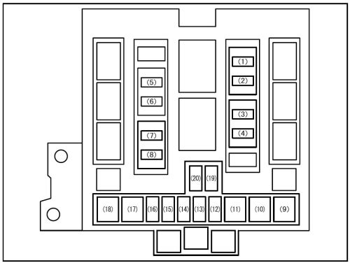 small resolution of suzuki grand vitara 2008 fuse box diagram