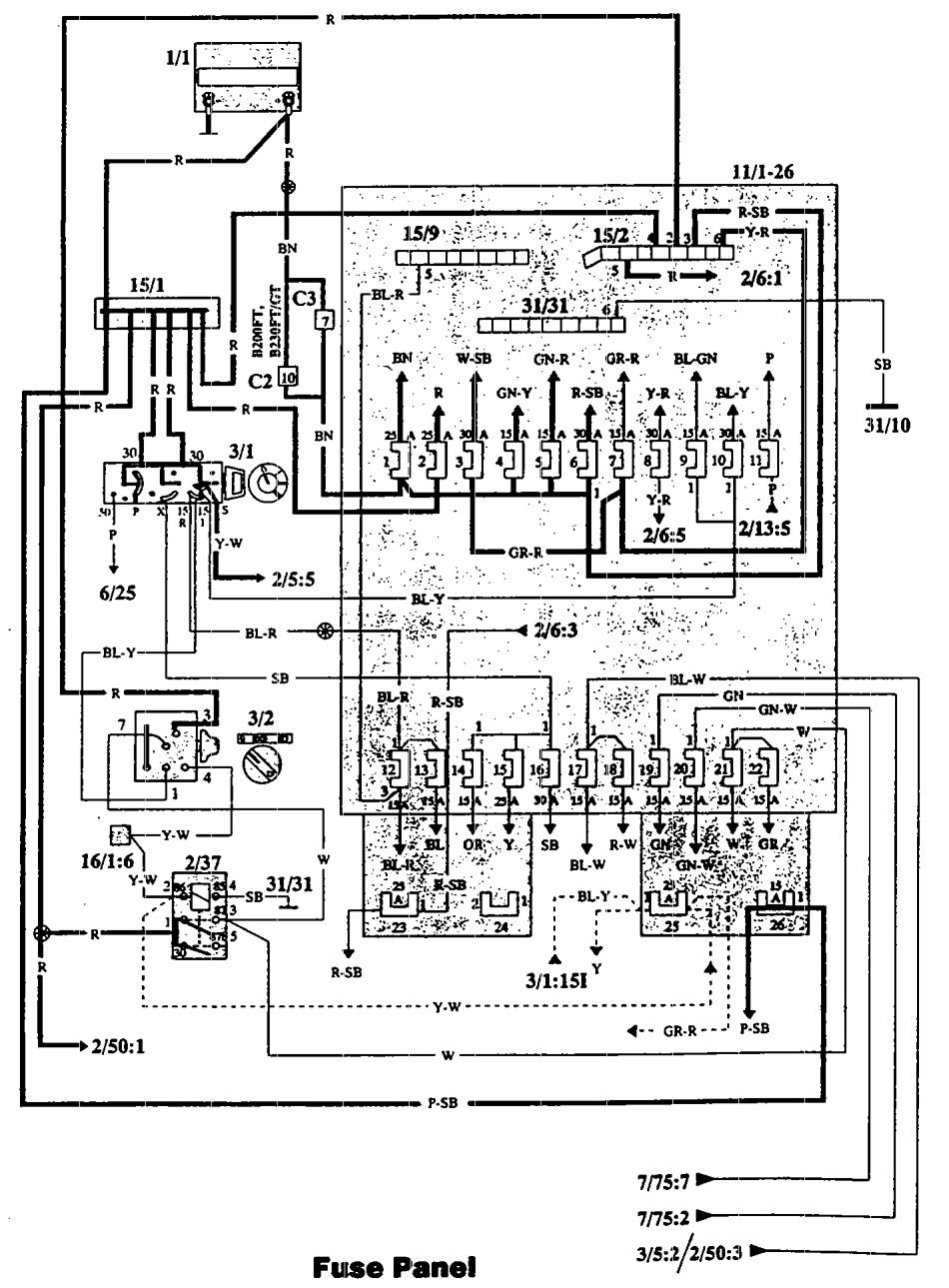 hight resolution of volvo 940 1993 fuse box diagram