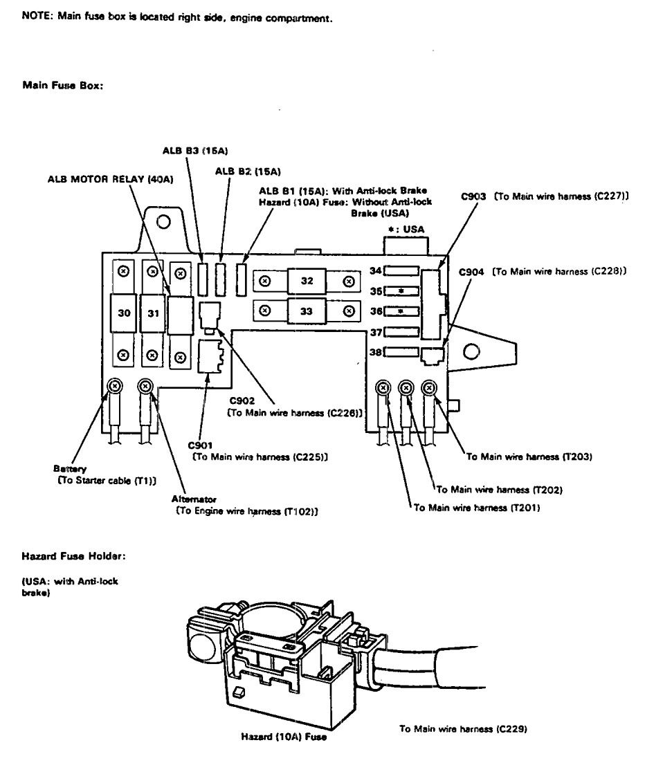 hight resolution of acura integra 1992 1993 fuse box diagram auto genius 1992 acura integra fuse box