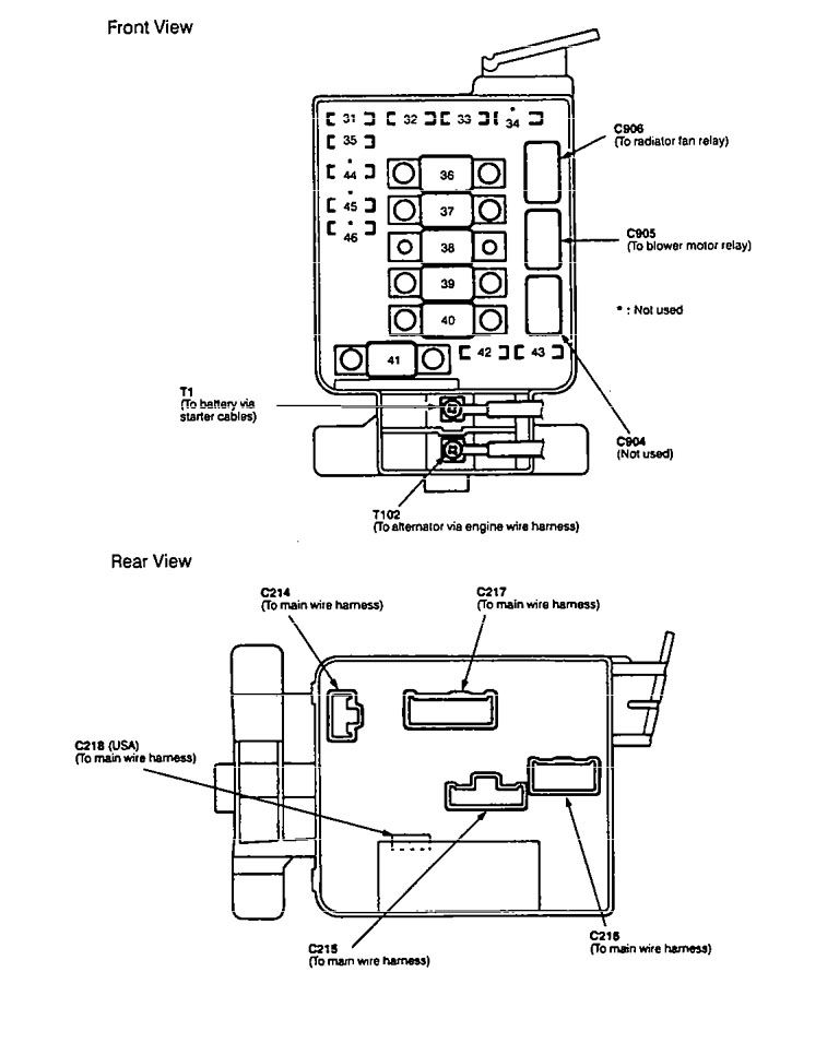 97 Integra Fuse Box Diagram. Schematic Diagram. Electronic