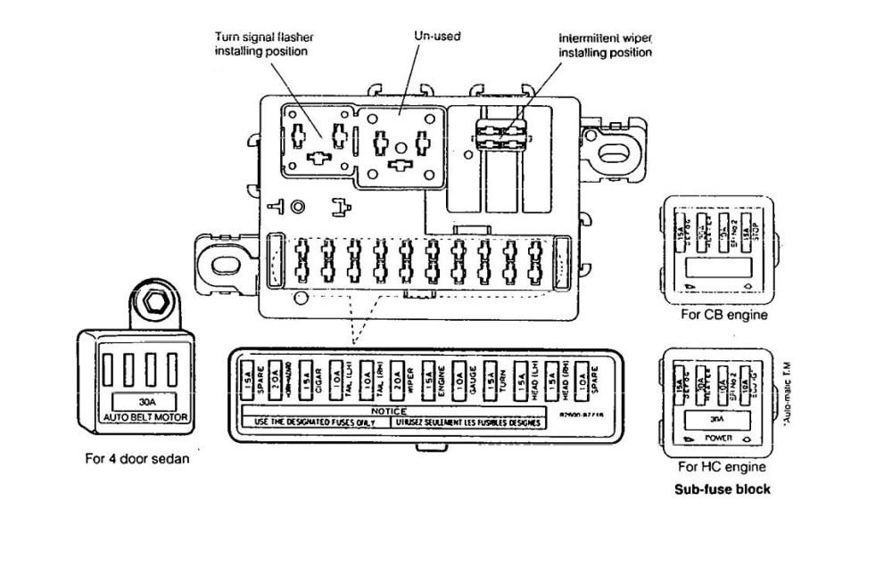 medium resolution of daihatsu charade g20 engine diagram standard electrical wiring diagramdaihatsu charade 1990 1992 fuse box